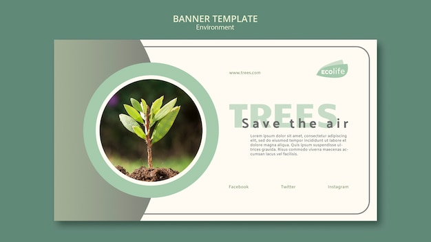 Banner with environment theme Free Psd