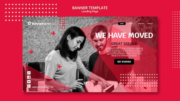 Banner with move house concept Free Psd