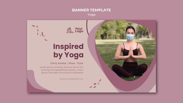 Баннер шаблон класса йоги Бесплатные Psd