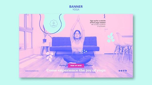 Modello di lezioni di yoga banner Psd Gratuite