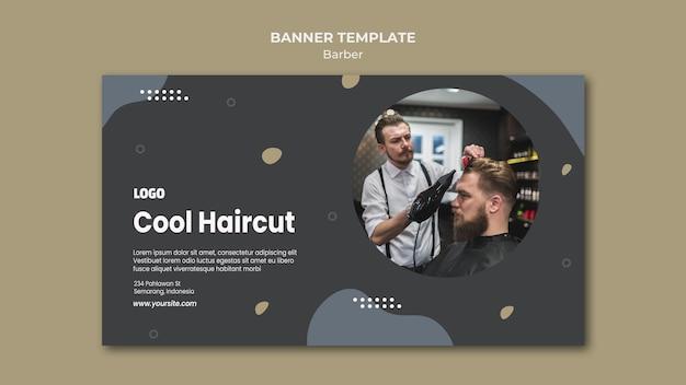 Modello di banner del negozio di barbiere Psd Gratuite