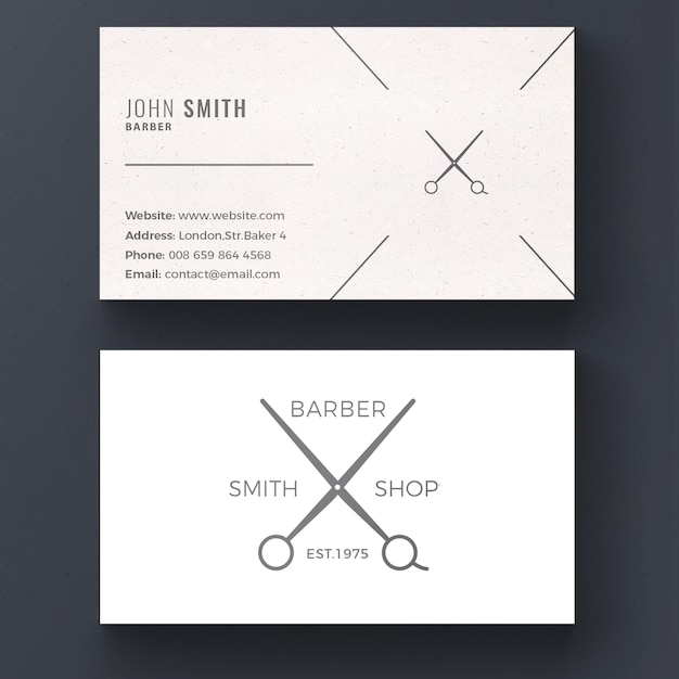 Barber shop business card psd file free download barber shop business card free psd cheaphphosting Images