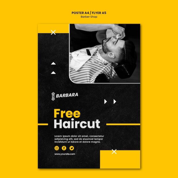 Шаблон плаката парикмахерской Бесплатные Psd