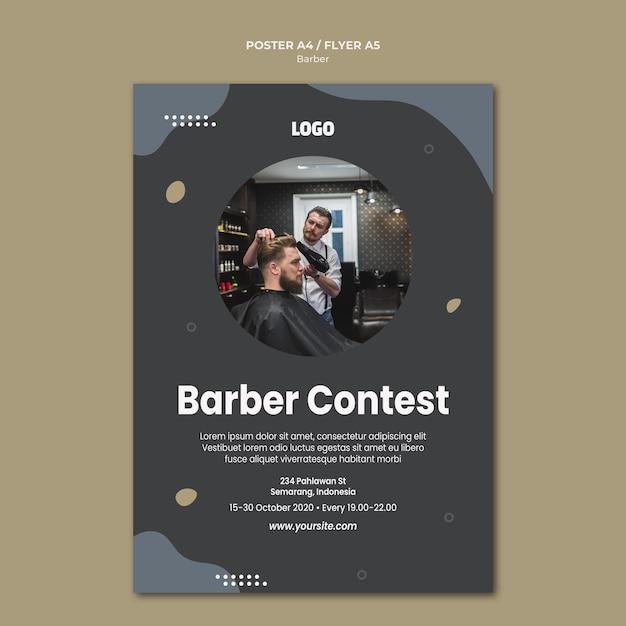 Modello di poster del negozio di barbiere Psd Gratuite