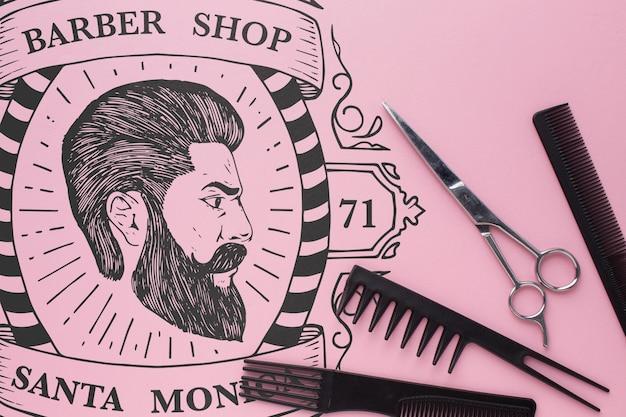 Макет для парикмахерских Бесплатные Psd