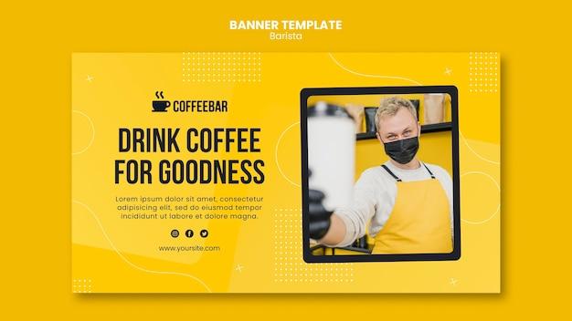 Design del modello di banner barista Psd Gratuite