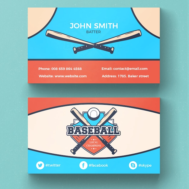 Baseball business card psd file free download baseball business card free psd colourmoves