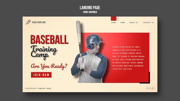 Baseball training training camp template Free Psd