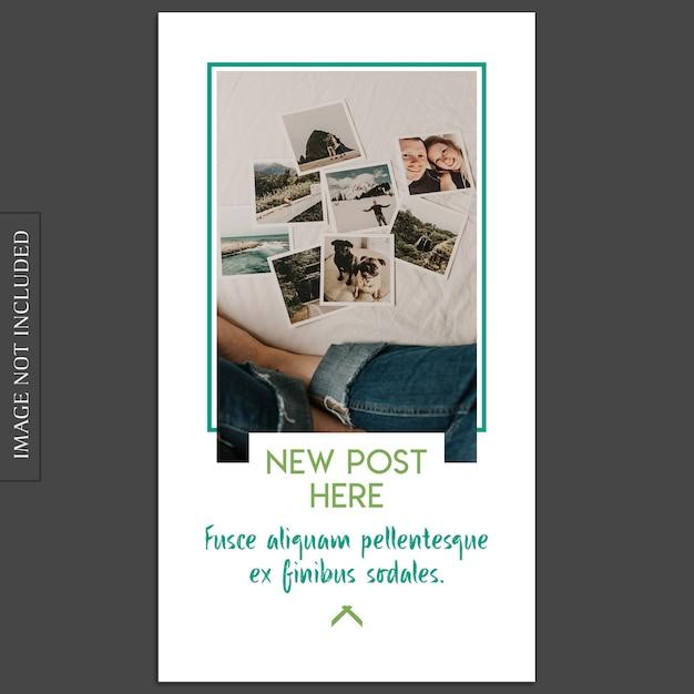 Basic, creative, modern photo mockup and instagram story