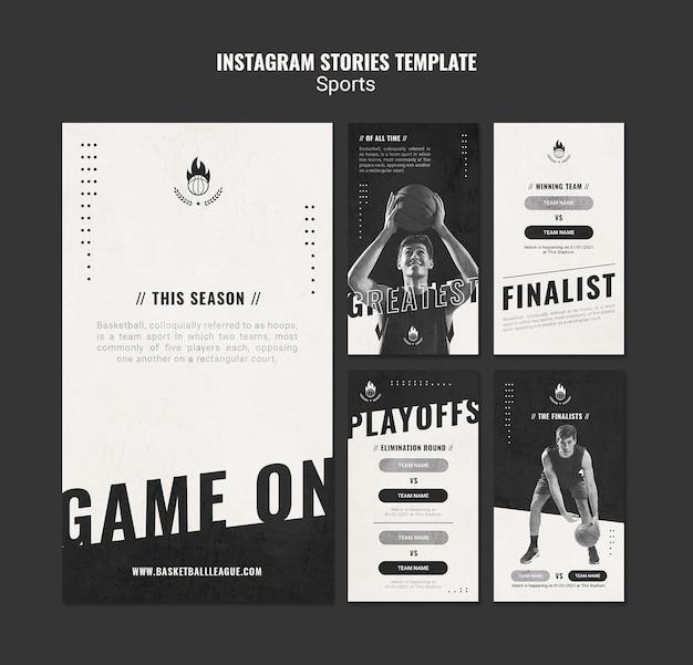 Basketball ad instagram stories template Premium Psd