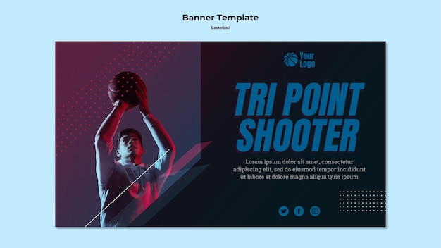 Banner di pallacanestro Psd Gratuite