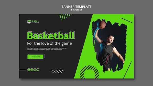 Basketball banner template concept Free Psd