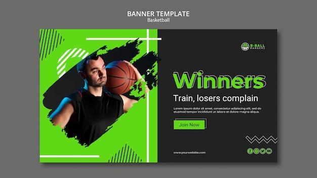 Basketball banner template theme Free Psd