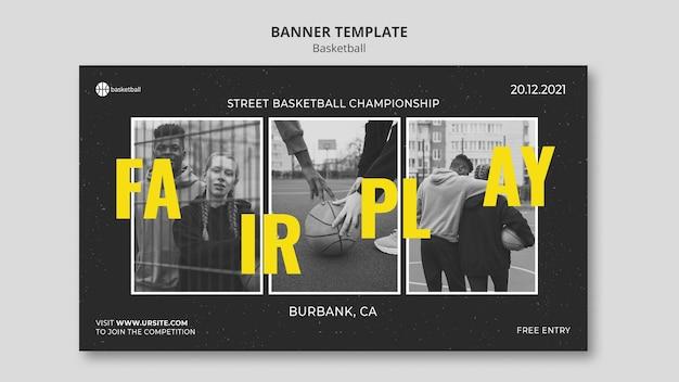 사진과 함께 농구 배너 서식 파일 무료 PSD 파일
