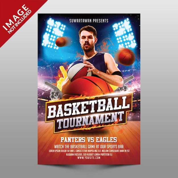 Basketball tournament Premium Psd
