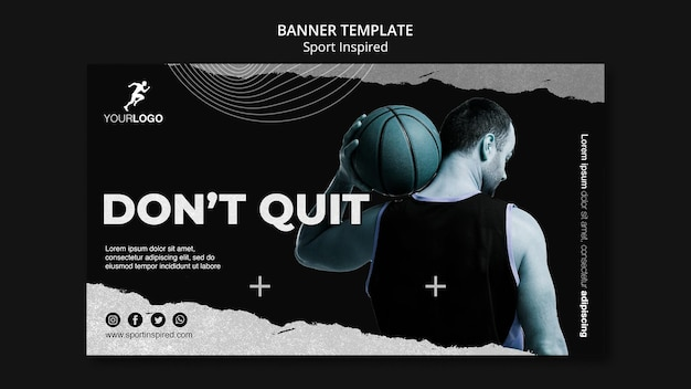 Basketball training ad banner template Free Psd