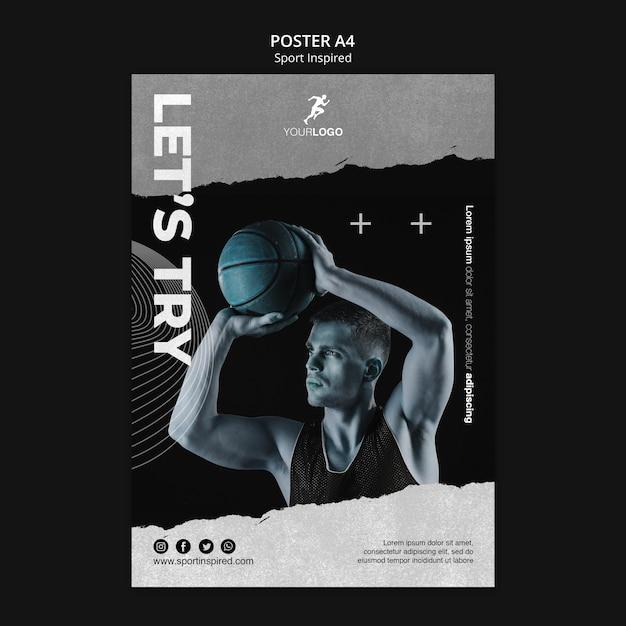 농구 훈련 포스터 템플릿 무료 PSD 파일
