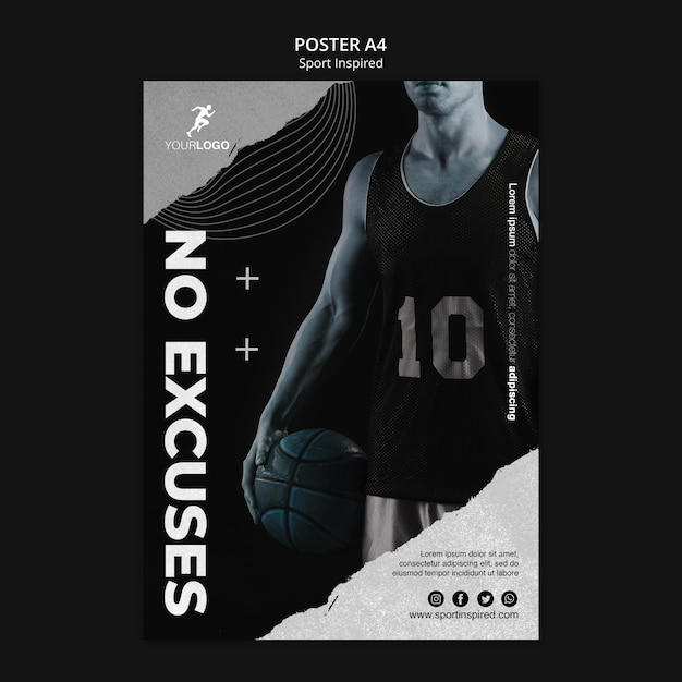 농구 훈련 템플릿 포스터 프리미엄 PSD 파일