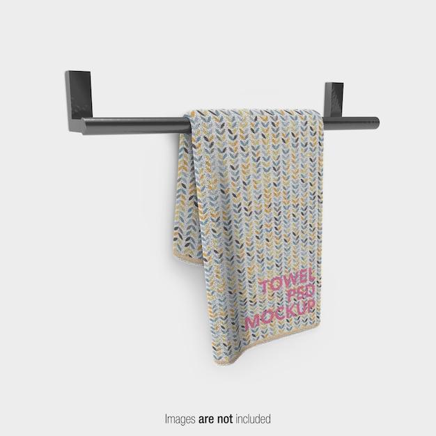 Макет полотенца для ванной Premium Psd