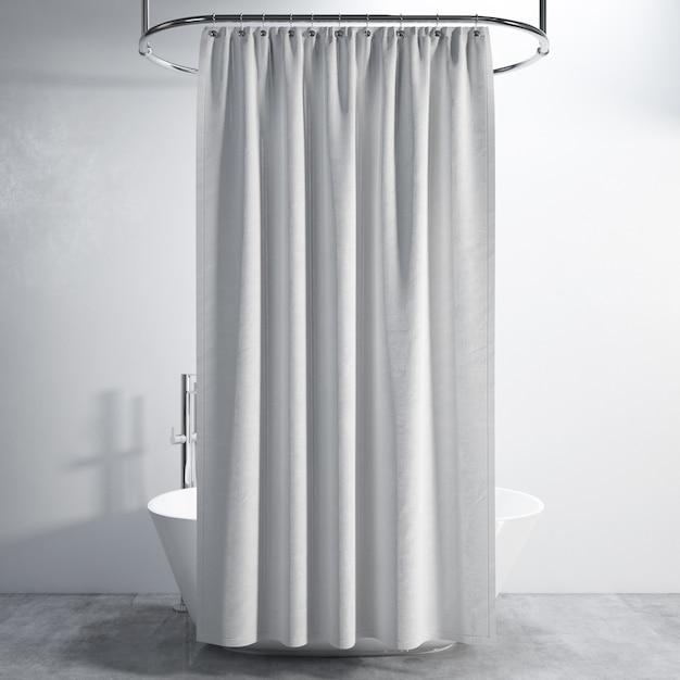 Ванна с занавеской Бесплатные Psd