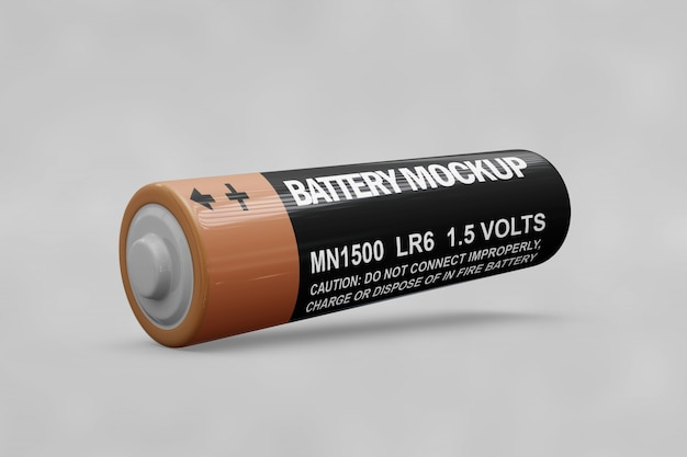 Battery mockup Free Psd