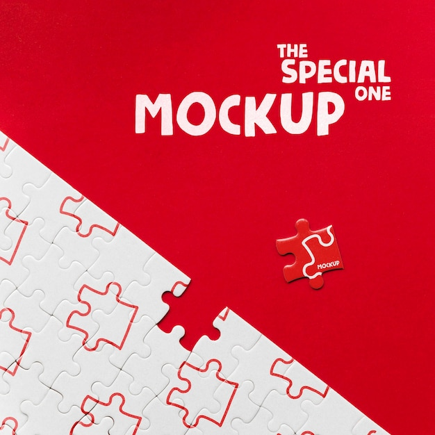 Be different, be special piece of puzzle mock-up Free Psd