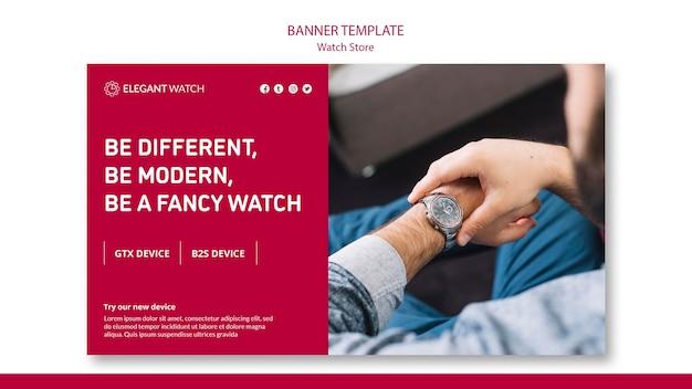 Be modern, be a fancy watch banner template Free Psd