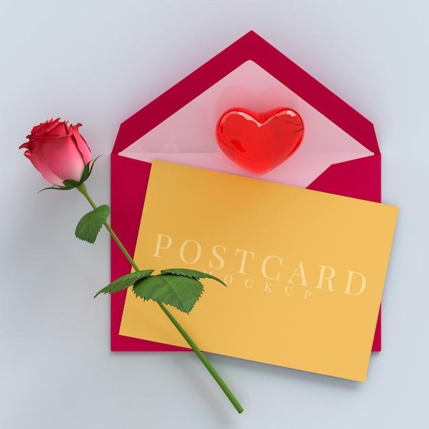 선물 상자 장식 및 인사말 카드 모형으로 내 발렌타인 축하 파티가 되십시오. 프리미엄 PSD 파일