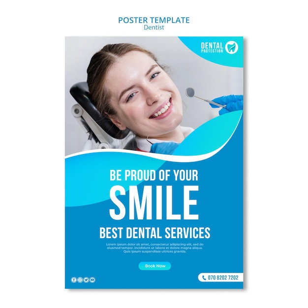 Be proud of your smile poster template Free Psd