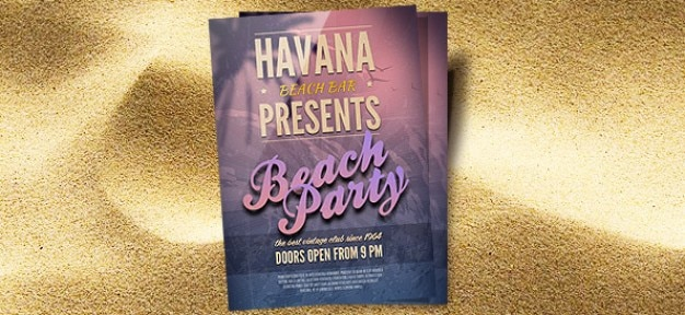 beach party psd flyer template psd file free download