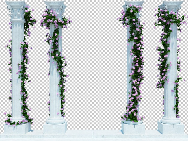 分離された美しい3dレンダリングブラシツリー Premium Psd