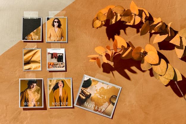 아름다운 가을 무드 보드 모형 무료 PSD 파일