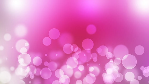 Beautiful Blurred Pink Abstract With Bokeh Effect For Spring Or