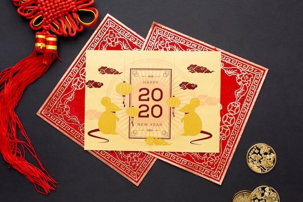 Красивая китайская концепция нового года Бесплатные Psd
