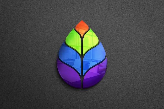 아름 다운 화려한 잎 로고 디자인 프리미엄 PSD 파일