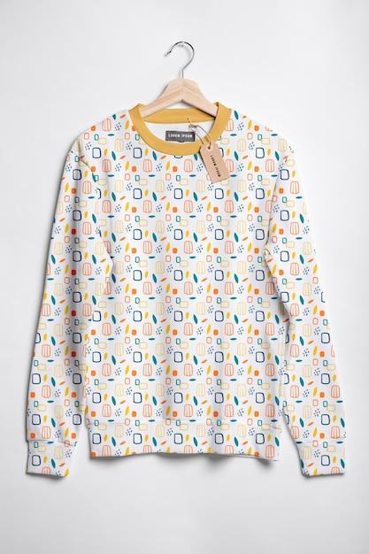 아름 다운 화려한 셔츠 개념 모형 무료 PSD 파일