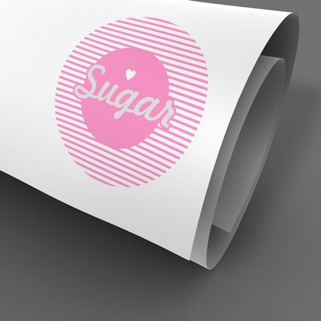 beautiful curled page logo showcase mockup 52664 2585