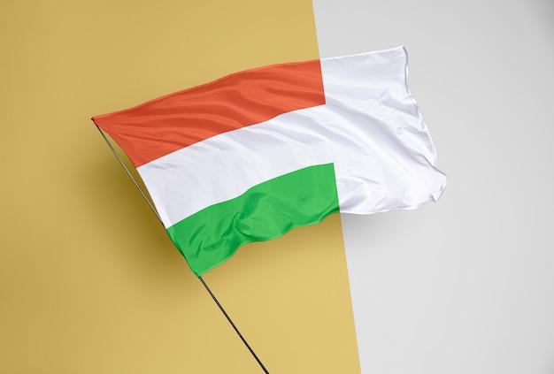 아름 다운 깃발 개념 모형 프리미엄 PSD 파일
