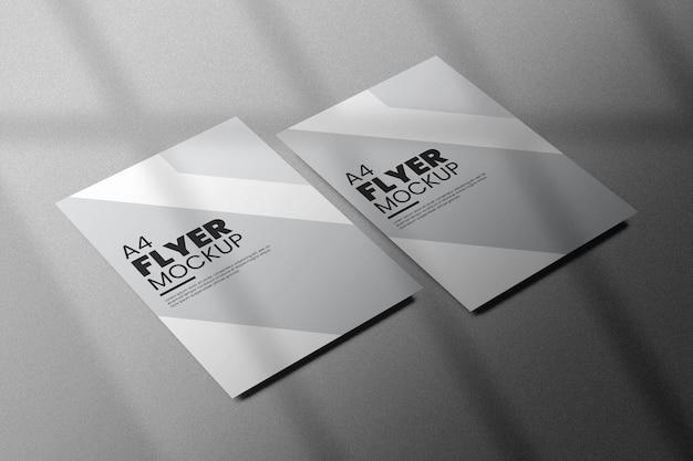 Красивый дизайн макета флаера изолирован Premium Psd