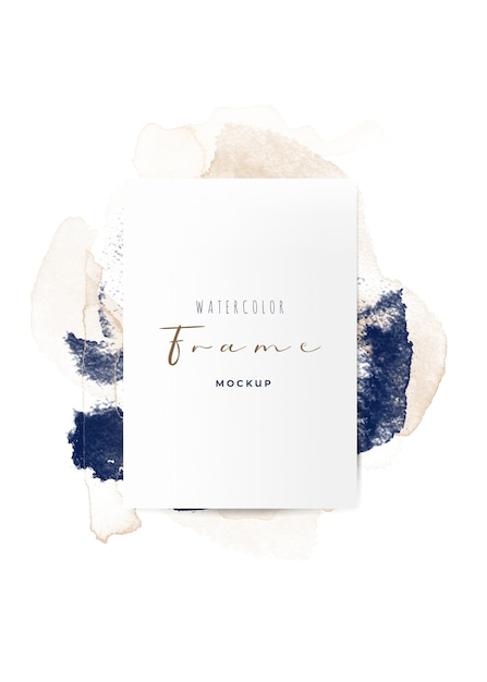 Beautiful frame with watercolor brushes Free Psd