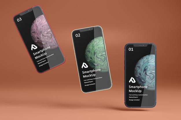 Beautiful realistic smartphone mockup isolated Premium Psd