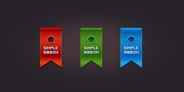 Beautiful ribbon in  colors Free Psd