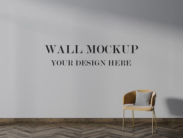 Beautiful room with empty wall mockup Premium Psd