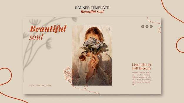 아름다운 영혼 광고 배너 템플릿 무료 PSD 파일