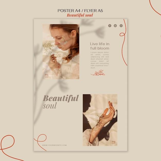 아름다운 영혼 광고 전단지 템플릿 무료 PSD 파일
