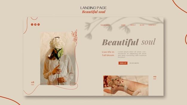 아름다운 영혼 광고 템플릿 방문 페이지 무료 PSD 파일