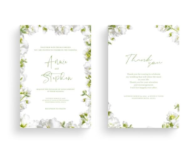 Beautiful spring flower frame, invitation, wedding card, thanks greeting, Premium Psd