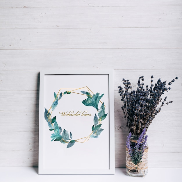 Beautiful spring frame mockup Free Psd