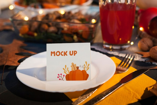 Beautiful thanksgiving concept mock-up Free Psd