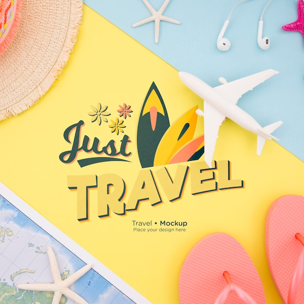 Beautiful travel concept mock-up Free Psd